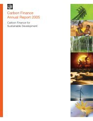 Carbon Finance Annual Report 2005 - The Seawater Foundation