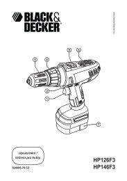 HP126F3 HP146F3 - Black & Decker