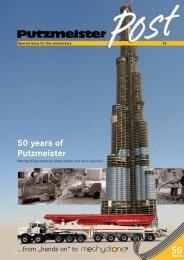 50 years of Putzmeister