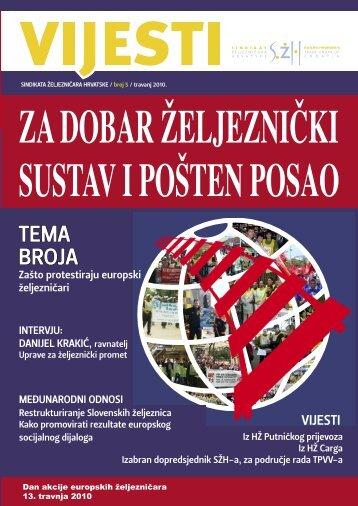 VIJESTI SŽH, broj 5 - Sindikat Željezničara Hrvatske