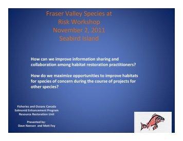 Improving information Sharing & Collaboration among Habitat ...