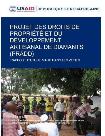PRADD Rapport d'Etude MARP dans les Zones - Land Tenure and ...