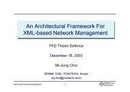 An Architectural Framework For XML-based Network Management ...