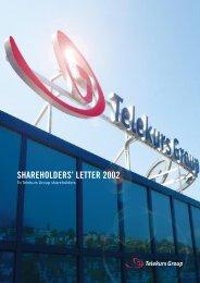 Shareholders' Letter 2002 - SIX Financial Information