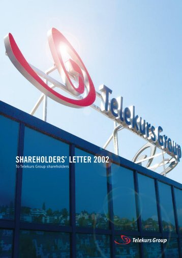 Shareholders' Letter 2002 - SIX Financial Information