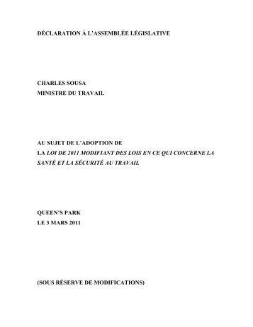 Version PDF - Ministère du travail
