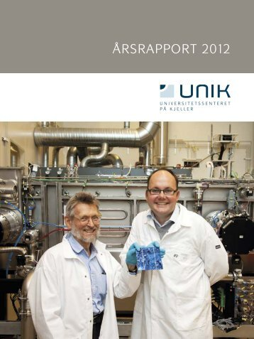 Årsrapport 2012 - Unik
