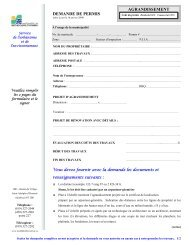 AGRANDISSEMENT DEMANDE DE PERMIS - St-Adolphe d'Howard