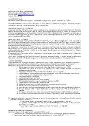 Curriculum Dr.ssa Anna Elisa Marchese. Nata a Prignano (MO) il 3 ...