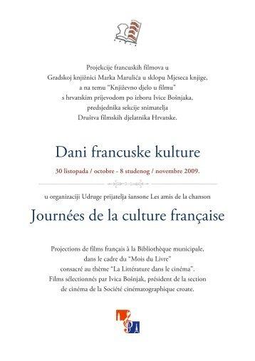 Dani francuske kulture - Gradska knjižnica Marka Marulića