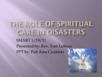 The Role of Spiritual Care in Disasters Presentation