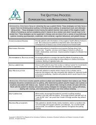 Cognitive and Behavioral Strategies for Coping with ... - Rxforchange