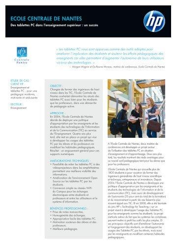 ECOLE CENTRALE DE NANTES - Hewlett-Packard France - HP