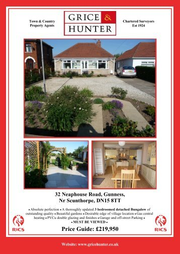 Price Guide: £230000 32 Neaphouse Road ... - Grice & Hunter