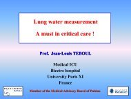 Lung water measurement - PULSION Medical Systems SE
