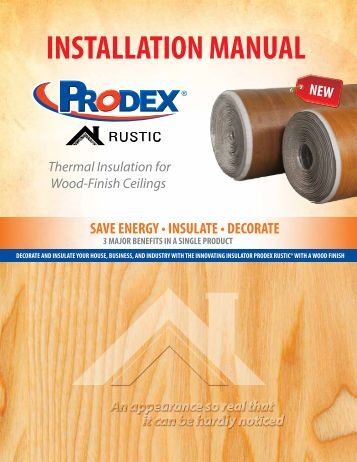 Thermal Insulation For Wood-Finish Ceilings - Prodex