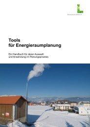 Tools für Energieraumplanung - Klima Aktiv