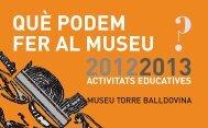 què podem fer al museu - Ajuntament de Santa Coloma de Gramenet