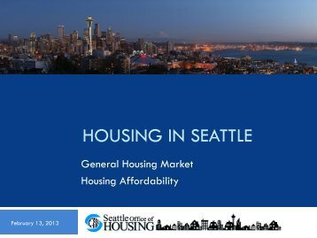 Seattle Housing Market Presentation