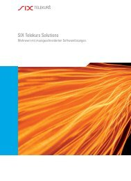 SIX Telekurs Solutions - SIX Financial Information