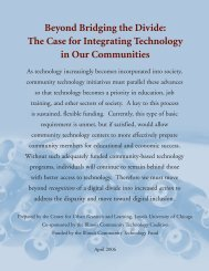 The Case for Integrating Technology in Our Communities - Loyola ...