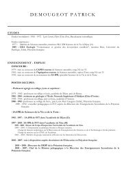 CV DEMOUGEOT Patrick mai 2010 - Tarbes-Infos