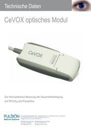 CeVOX Modul Technische Daten - PULSION Medical Systems SE