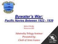 Bywater's War: Pacific Navies Between 1922 - 1939 ... - Clash of Arms