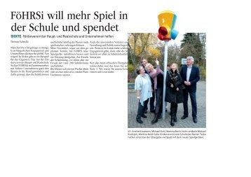 FöHRSi will mehr Spiel in der Schule und spendet - und Realschule ...