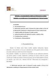 Informe y recomendación relativa al Sistema de Ayudas Sociales y ...