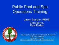 Public Pool and Spa Operations Training - Calaveras County