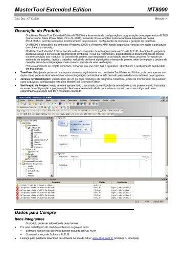 MasterTool Extended Edition MT8000 - Altus