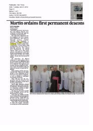 Lecturer Gabriel Corcoran ordained as deacon - Update - Dublin ...