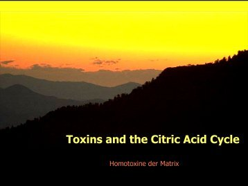 Toxins and the Citric Acid Cycle