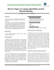 Review Paper on routing algorithms used in Hybrid Routing
