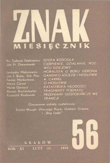 Nr 56 Luty 1959 Znak