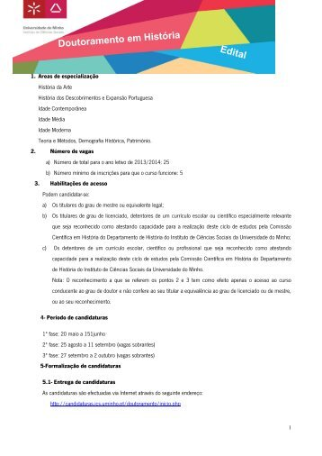 Edital - ICS - Universidade do Minho