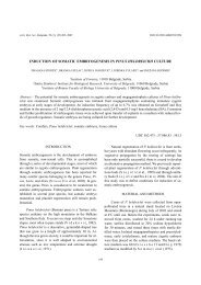 induction of somatic embryogenesis in pinus heldreichii ... - doiSerbia