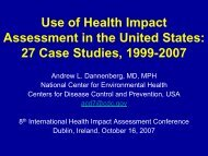 Use of Health Impact Assessment in the United States: 27 Case ...