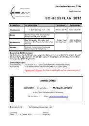 Schiessplan Verbandschiessen 2013