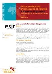 Informatique & Télécommunications - Université de Rennes 1