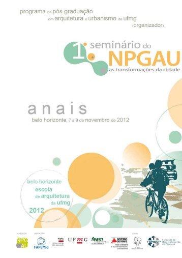 i seminário do npgau - Escola de Arquitetura - UFMG