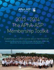 Membership Vice President Toolkit - American Pharmacists ...