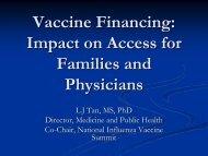Litjen Tan - California Immunization Coalition
