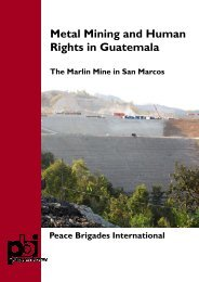 Metal Mining and Human Rights in Guatemala - Peace Brigades ...