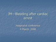 Post-Cardiac Arrest Bleeding