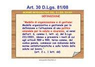 Art. 30 D.Lgs. 81/08 - Asl Como