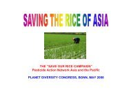 SAVE OUR RICE CAMPAIGN - Planet Diversity