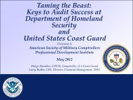 Keys to Audit Success at the US Coast Guard & DHS - PDI 2012