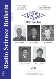 Radio Science Bulletin 313 - June 2005 - URSI
